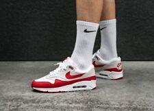 Nike Air Max 90/1 White Red Grey Uk Size 6 Eur 40 AJ7695-100