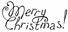 Christmas - Merry Christmas #5 Unmounted Clear Stamp Approx 75x35mm