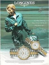 ▬► PUBLICITE ADVERTISING AD Montre Watch LONGINES 1996