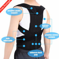 Posture Corrector Unisex Adjustable Back Shoulder Belt Support Body Brace Back D
