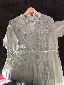 Tredy Kleid 42 salbei Neu Mit Etikett