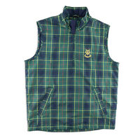 Sunice Mens Large St. Andrews Links Golf Vest 1/4 Zip Pullover Tartan Plaid