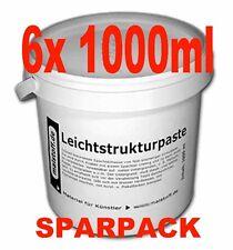 Leichtstruktur Strukturpaste fein 6x1000 Ml Sparpack Malstoff