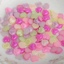 100pcs Half loving heart ABS Imitation Pearl Beads Fake Flat Back Craft DIY R721