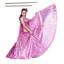 Adult Butterfly Wings Belly Dance Isis Wings+Free Sticks Egypt Costume Women