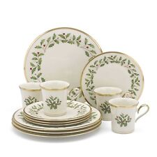 Lenox HOLIDAY 12-Piece Set, Dinner & Salad Plates, Mugs, Bone China 24k Gold NEW