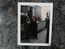 Vintage Photo Polaroid of Scary Clown with Cigar Mysterious Bozo