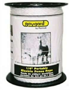 PARKER MCCRORY-PARMAK-BAYGARD 795 White Electric Fence Rope 1/4 in.
