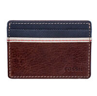 Fossil ML3311200 Elgin Men's Brown Leather Card Case 2 Card Slot ID Wallet