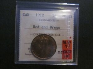 Canada One Cent. 1912  ICCS