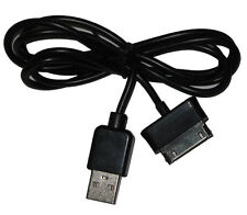 """USB Data Cable Charger Lead For Samsung Galaxy Tab 10.1"""" P7500 P7510 P7100 Black"""