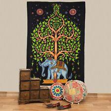 Bedspread Elephant Life Tree Deco Cloth India Mandala ca.78 11/16x53 1/8in UV