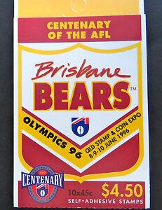 Australian Stamps: 1996 Centenary of AFL Booklet - Brisbane Bears