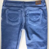 Ladies Superdry Super Skinny Crop Blue Faded jeans Size 10 W30 (783c)