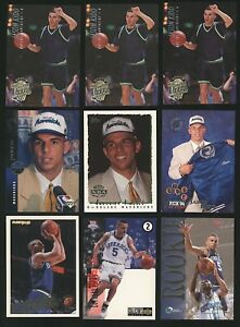 Lot (x9) 1994-95 Fleer/UD/Topps JASON KIDD Mixed Rookie Cards RC Dallas Maverick