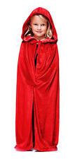 Childrens Velluto Rosso Con Cappuccio Mantello Di Halloween Bambini Riding Hood Costume