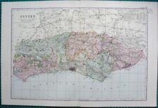Sussex 1800-1899 Date Range Antique Europe Atlas Maps