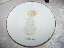 "Precious Moments September 1983 Enesco Plate 6 1/4"" with Easel New in Box"