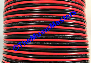 16 Gauge 30' ft SPEAKER WIRE Red Black Cable Car Audio Home Stereo 12V DC Power