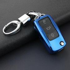 Flip Key Fob Chain For VW Jetta Golf MK6 Passat B7 Beetle Accessories Cover Case