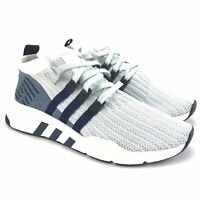 Adidas Men's EQT Support Mid ADV Primeknit Blue White Running Shoes Size 8 D