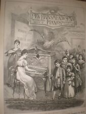 John Brinsmead Piano children palm art advert Summer 1889 ref AR