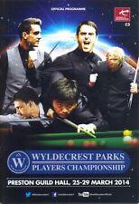 Snooker/Pool/Billiards Programmes Memorabilia