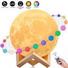 Lampe Lune, AGM Lampe Lune 3D 15CM 16 Couleurs Télécommande Tactile USB Recharge