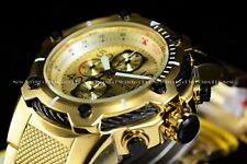NEW Invicta 52mm Men's Bolt Compass Chronograph Quartz 24K Gold IP SS Watch