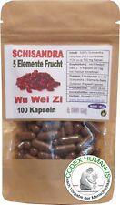 100 Kapseln à 500 mg Schisandra 5 Elemente Frucht Ayurveda TCM Lebensfeuer Chi