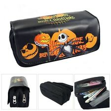 The Nightmare Before Christmas Jack Pumpkins Pencil Case Zipper Stationery Bag