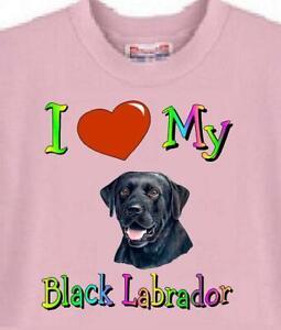 Dog T Shirt - I Love My Black Labrador ------- Short Sleeve