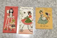 Vintage Greeting Cards, 1950s Birthday Cards, 50s Get Well Soon Card