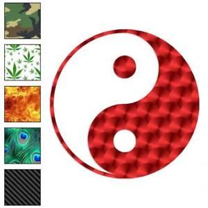 Yin Yang Decal Sticker Choose Pattern + Size #761