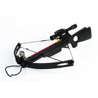 150 lb lbs Black Compound Hunting Crossbow Archery Bow +2 Arrows 180 175 80 50