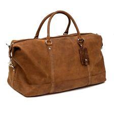 Handmade Premium Tan Leather Holdall Duffle Weekend Bag RRP £169.99