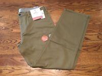 Dockers Men's Jean Cut Straight Fit Flat Front Soft Stretch Pants Khaki D1 NWT
