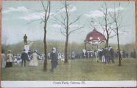Galena, IL 1910 Postcard: Grant Park - Illinois Ill