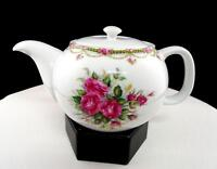 """LIETTE INTERNATIONAL CHINA ROSE AND SWAG 3 3/4"""" TEAPOT"""