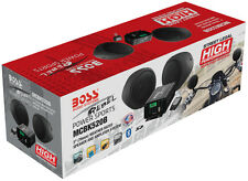 "BOSS MCBK520B 3"" Black 2-Ch Amplified Motorcycle/ATV 600W Weatherproof Speakers"