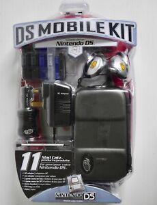MADCATZ DS MOBILE KIT 11 PIECE SET AC ADAPTER EVA CASE STYLUS GAME CASES HEADSET