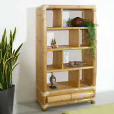 BÜCHERREGAL RAWAS RATTAN BAMBUSREGAL WANDREGAL BAMBUSMÖBEL REGAL STANDREGAL HOLZ