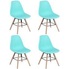 Lot de 4 Chaises Bleu Tendance Scandinave Plastique PP Salle à manger