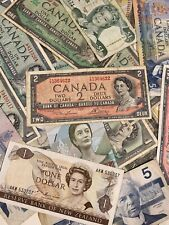 (34) Lot Of Foreign Money Currency $1 $2 Canada New Zealand Fractional Notes