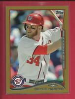 Bryce Harper 2014 Topps GOLD Parallel Card 100 #'d / 2014 Nationals Phillies MLB