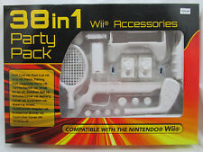 Nintendo Wii Accessories 38 in 1 Party Pack Golf Tennis Fishing & More White NIP
