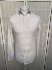 Mens size 14.5 / Euro 37cm  M&S Collection White Long Sleeve Shirt