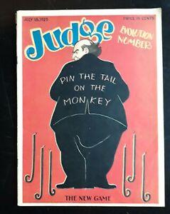 Evolution Scopes Trial Number Judge Humor Magazine 7/18 1925 Full Issue