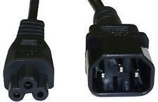 Power Extension Cable IEC C14 Male Plug to IEC C5 Female Socket Black 2m