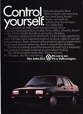 """1985 Volkswagen Jetta GLI photo """"Control Yourself"""" Ad"""